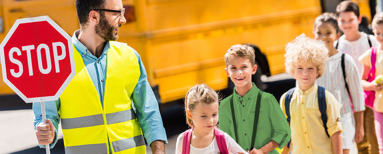 Autobus scolaire enfants